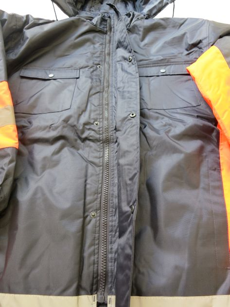 Winter Safety Parka Zipfront design with Storm Cover